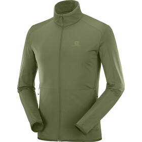 Salomon Outtrack Full Zip Mid Fleecejacket Men, olive night